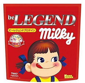 """001 207 - ペコちゃんも筋肉界を応援か。""""ミルキー味""""のプロテインが登場!パッケージもミルキーそのまんま"""