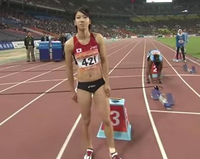 001271 - 【福島千里】女子陸上100m、200mの日本記録保持者。2008年に好タイムをマークし始めて頭角を現す