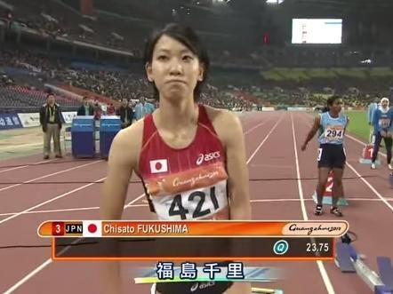 002109 - 【福島千里】女子陸上100m、200mの日本記録保持者。2008年に好タイムをマークし始めて頭角を現す